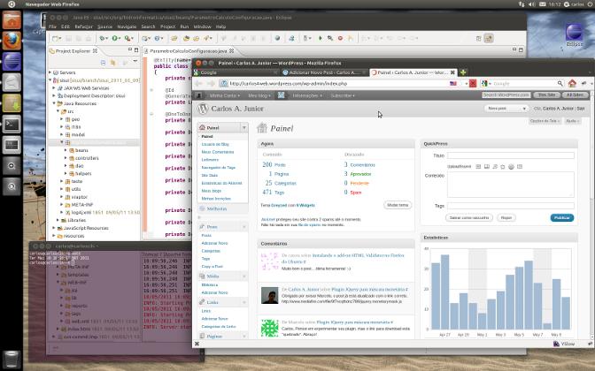 Ubuntu 11 com gerenciador de janelas Unity