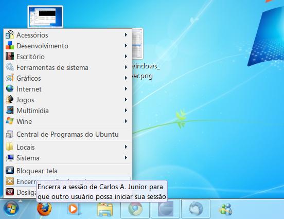 Tema Aero do Windows no Gnome.