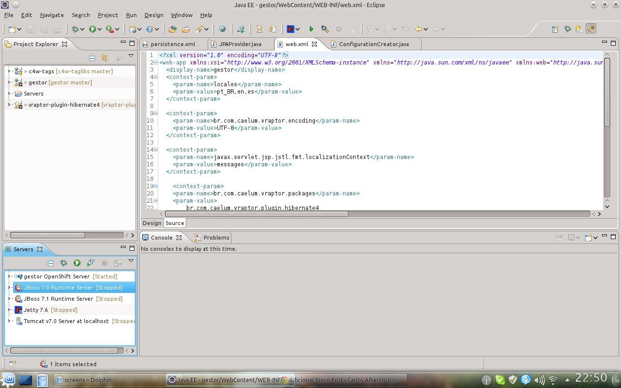 Eclipse IDE no KDE.
