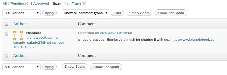 Spam comment.
